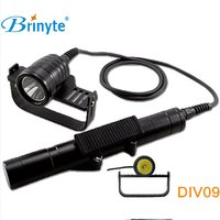 Brinyte DIV09 LED Dive Light CREE XML2 1000lm LED Scuba Diving Torch Flashlight 200M Underwater 326650 Batteries Lamp