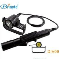 Brinyte DIV09 LED Dive Light CREE XML2 1000lm LED Scuba Diving Torch Flashlight 200M Underwater 326650 Batteries Lamp