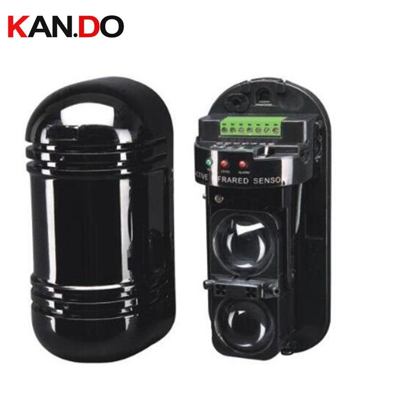 100 Meters IR Beam Detector Beam Sensor Wired ABT-100 Alarm Dual Beam Photoelectric Infrared LED Detector Tamper Alarm Output