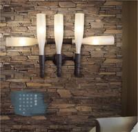 Retro Loft Industrial LED Wall Light With 5 Lights for Home Vintage Wall Sconce Arandela Lamparas De Pared Bottle Shaped