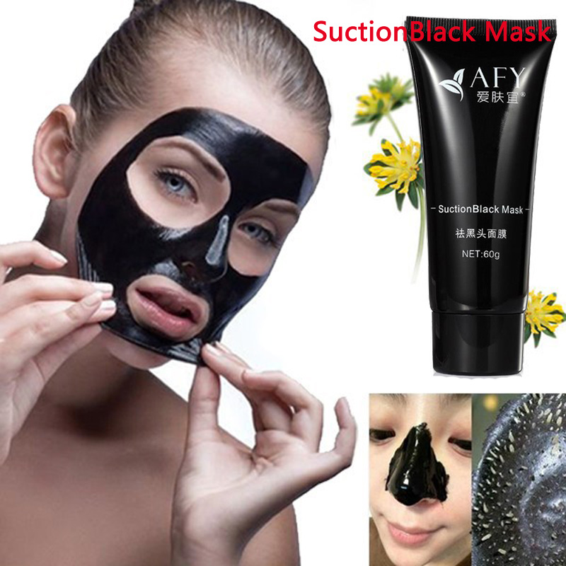 1 Bottle AFY Mask Deep Cleansing Purifying Peel Off Black Mud Facail Face Mask Remove Blackhead Facial Mask image