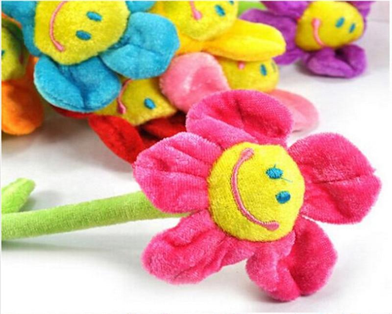 1pcs-35cm-Height-Cartoon-Plush-Sunflower-Curtain-Buckle-Simulation-Fabric-Flower-Home-Party-Wedding-Decoration-Creative-Gifts-3