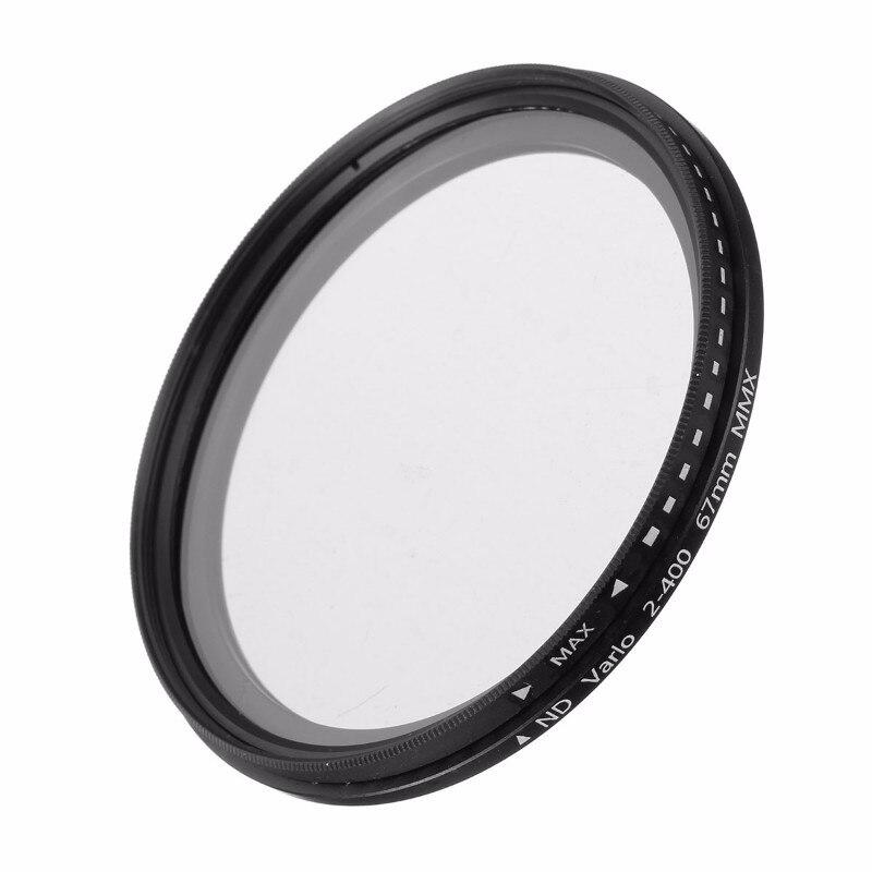 Kamera ND Filter Fader Neutral Density Einstellbar ND2 zu ND400 Variable Filter 52mm 55mm 58mm 62mm 67mm 77mm für Canon für Nikon