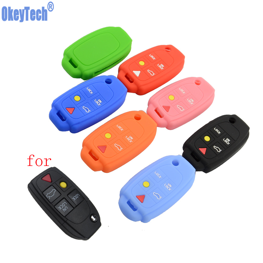 Car Key Fob Cover for Volvo Silicone Rubber Case