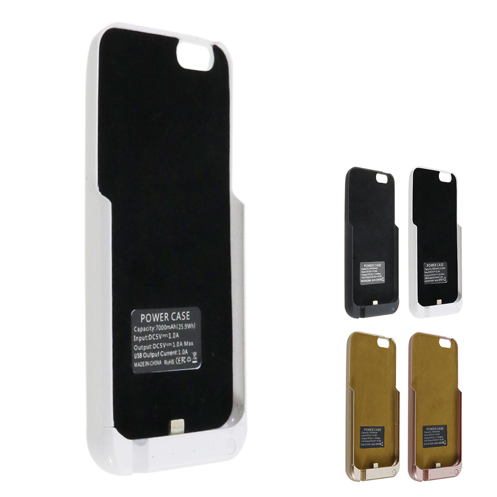 4 7 5 5 10000mAh Half Pack Clamp Backup External Battery Charger Case for iPhone 6
