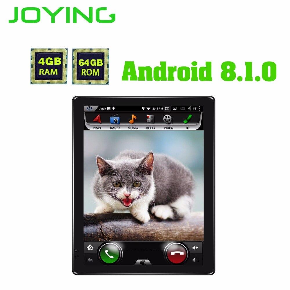 JOYING 9.7 Vertical Écran 4 + 64g ROM Android 8.1 Universel De Voiture Stéréo Affichage Bluetooth Multimédia 2 din voiture Radio Tête Unité