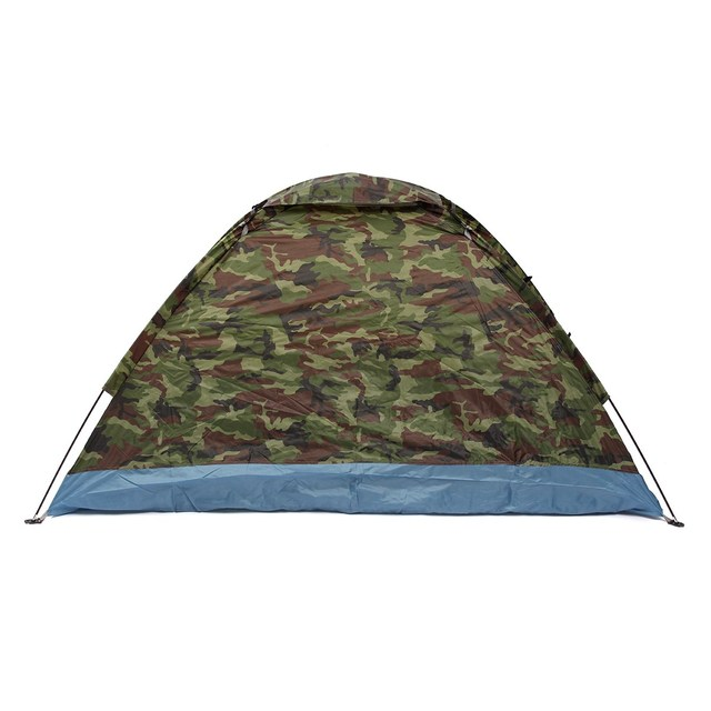 Waterproof Coating 4 Seasons 2 People Single Layer Camouflage Camping Hiking Tent