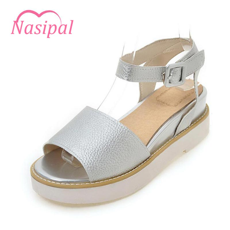 Nasipal 2017 Summer shoes women Fretwork Carving Swing Wedges Platform Women Sandals Female gladiator sandals women Shoes G889 phyanic 2017 gladiator sandals gold silver shoes woman summer platform wedges glitters creepers casual women shoes phy3323
