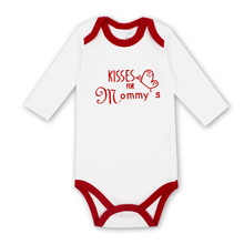 Newborn Bodysuits Baby Girl Clothes Summer Long Sleeve Cute Cartoon Pink Print Infant Clothing