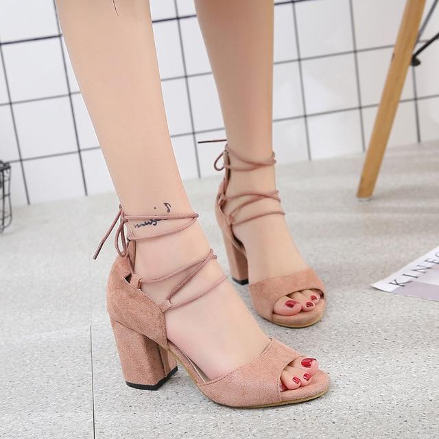 Suave Mujeres Sandalias Inferior Zapatos Mujer Franja Verano 4jL5AR