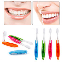 Portable 1 Pcs Compact Foldable Folding Toothbrush Tooth Brush Camping Hiking Outdoor Easy To Carry Modern Mini Design