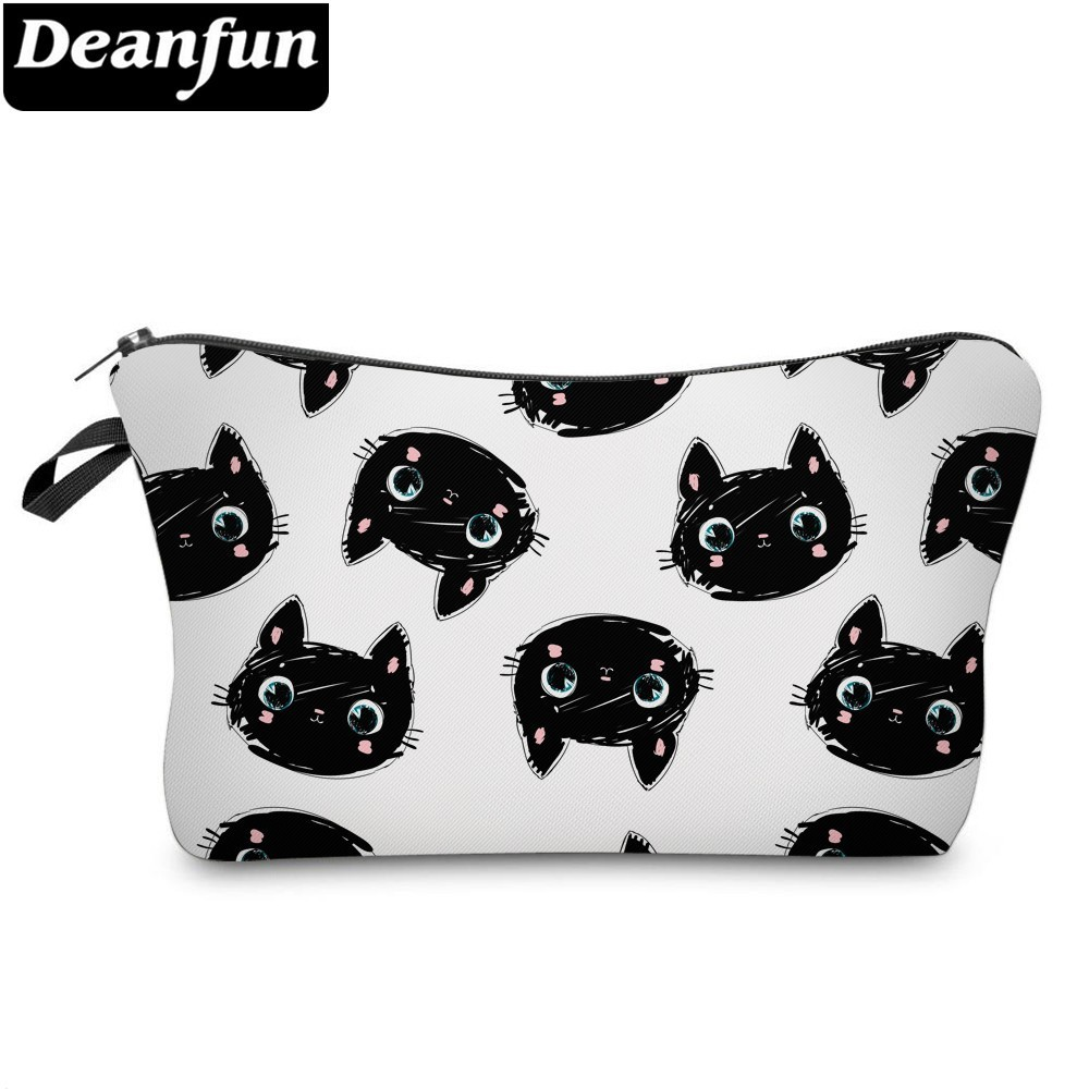 Deanfun	Cute Cat	Cosmetic Bag	Waterproof Printing Multifunctional	 Beauty Bag Customize Logo For Travel 51492