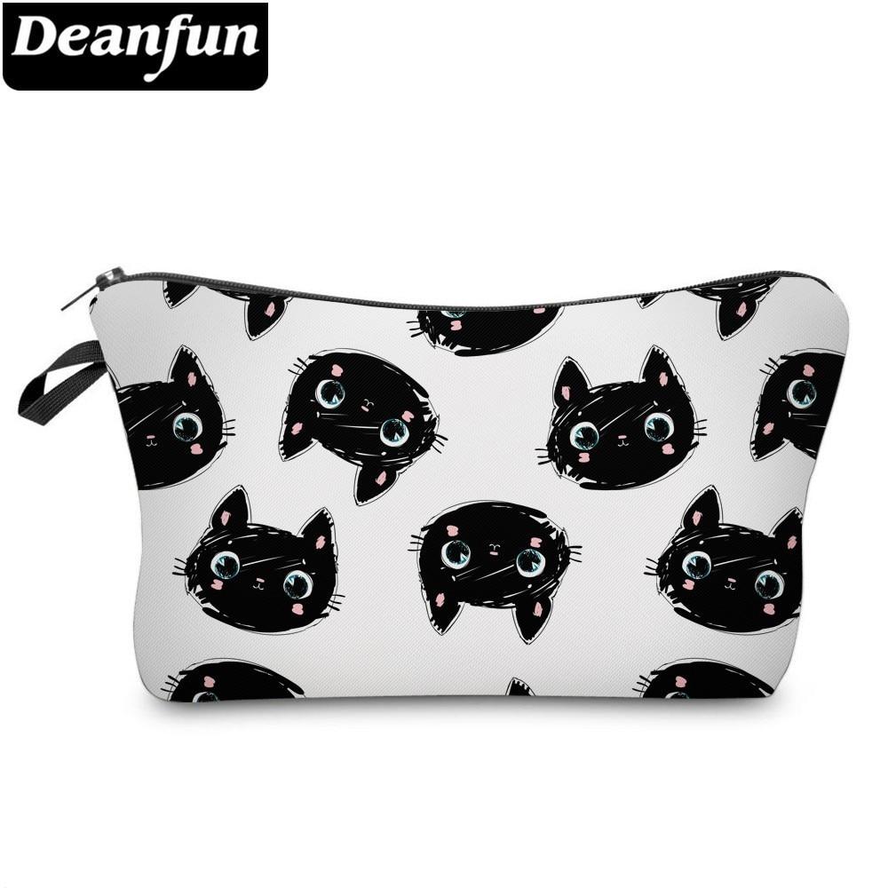 DeanfunCute CatCosmetic BagWaterproof Printing Multifunctional Beauty Bag Customize Logo For Travel 51492