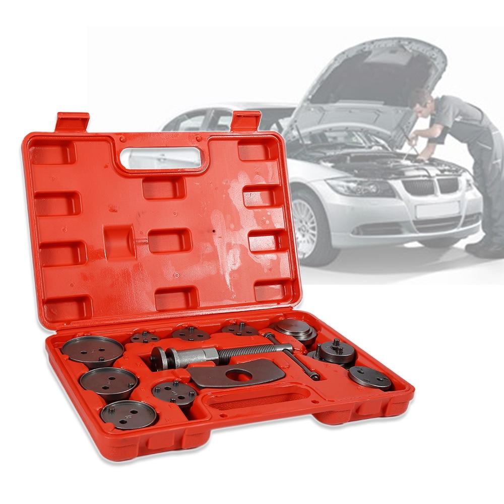 13pcs Universal Automobiles Garage car Brake Pump Adjusting Sleeve Brake Caliper Car Repair Tools Hand Tool Set Red HWC