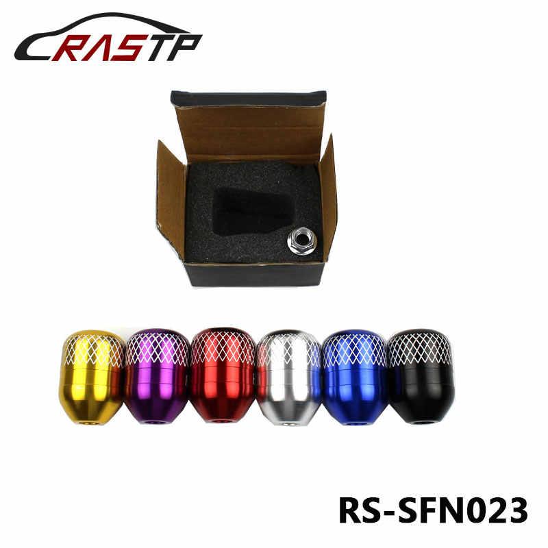 RASTP-новый стиль M10x1.5 углеродный Finber белый проверить нить заготовка ручка переключения передач для Honda с логотипом RS3-SFN023