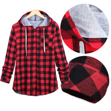 Plaid Seitlichem Reißverschluss Schottland langärmliges Freizeithemd Hiphop Schwarz Und Weiß, blau Und Rot Hoodies Sweatshirts Für Männer Und Frauen