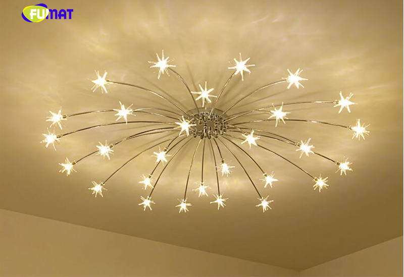 2018 fumat modern round g4 led crystal glass stars ceiling lights led stars ceiling light 10 mozeypictures Image collections