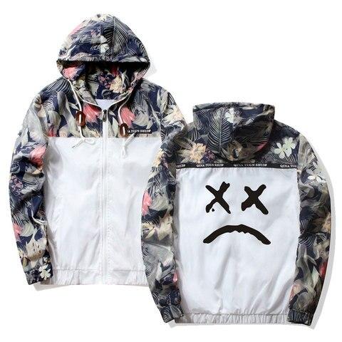 Frdun Tommy Lil Peep Sad Hooded Jackets Windbreaker Men Jackets Coats Sweatshirt Men Hip Hop Zipper Lightweight Jackets Bomber Karachi