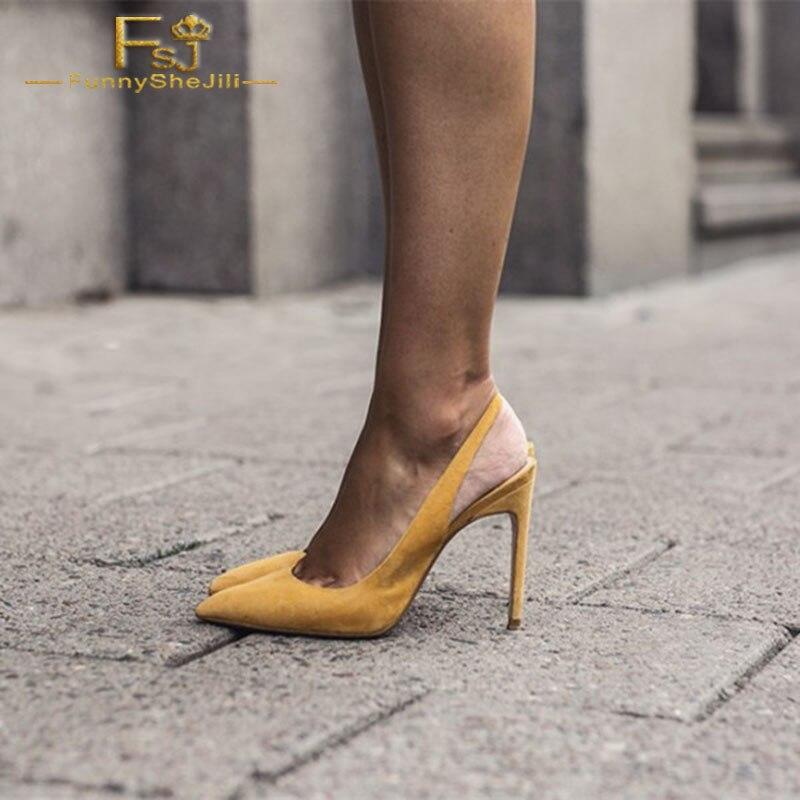 FSJ Women Shoes Ladies Pumps Mustard