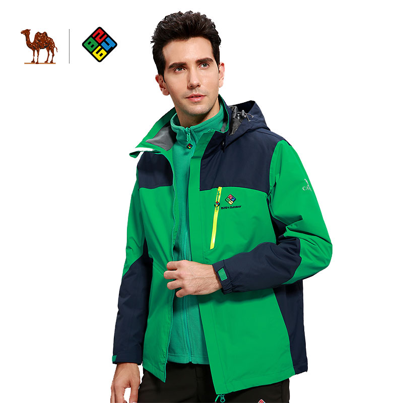 CAMEL X 8624 Men's Autumn Winter 3 in 1 Outdoor Jacket Warm Waterproof Windbreaker Hiking Skiing Snowboarding Male Jacket one piece model fighting edition monkey d luffy sanji ace trafalgar law dracula mihawk
