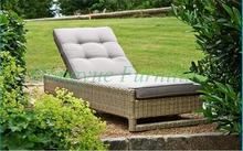 Brown rattan sun lounge chairs set furniture for outdoor