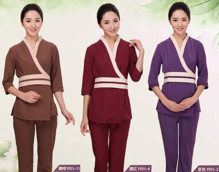 Spa-Uniforms Suits Workwear Two-Piece Spring Hot Overalls Salon Resort Hotel Beauty Wholesale