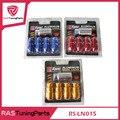 4 Pcs D1 Spec Roda Lug Nuts Com Um Parafuso Anti-roubo Com Chave M12x1.5 ou M12x1.25 Bule, Vermelho, preto, Ouro, Prata, Roxo RS-LN015