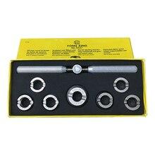 GEEN. 5537 Roestvaststaal Horloge Tool Case Opener, 7 stks Assort Size Horloge Case Opener Voor Horloge Reparatie