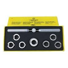 NO. Abridor de caja de herramientas de reloj de acero 5537 Stailess, abridor de carcasa trasera de reloj de tamaño Assort de 7 Uds para reparación de relojes
