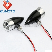10mm universal motocicleta sinais luzes indicadoras para softail sportster bobber chopper personalizado led pisca luzes