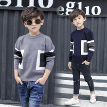 Teenager Children Baby Boys Sweater 2017 Kid Knitted Pullover Long Sleeves O neck Warm Outerwear Boys Sweater Clothing 5-16Y