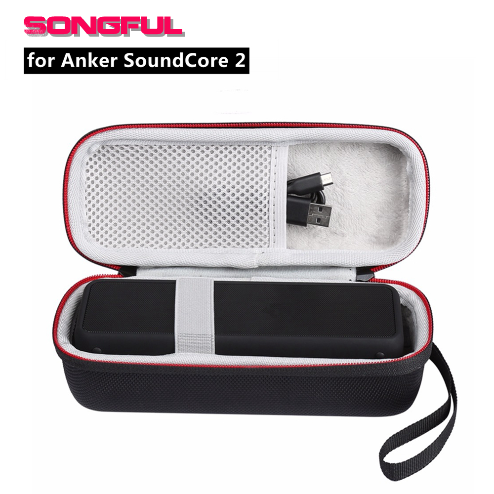 Hard EVA Bluetooth Speaker Case For ANKER SoundCore 2 Speakers Bag Storage Cover Box Portable Carry Pouch For Anker Soundcore2