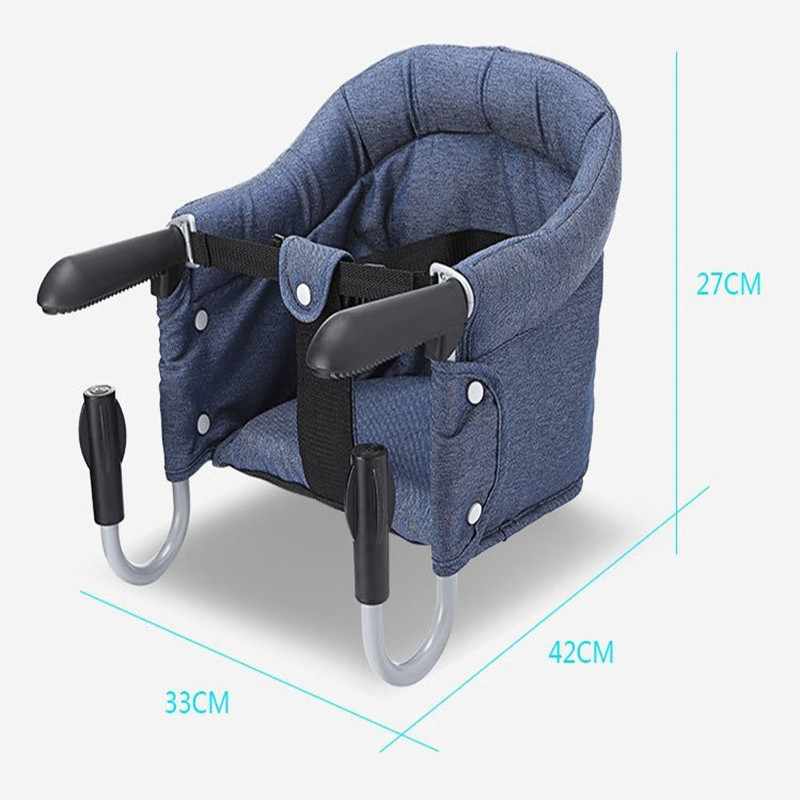 Portable Baby Dining Chair Children Travel Chair Seats Fast Hook On Table Chairs Foldable Infant Eating Feeding Highchairs