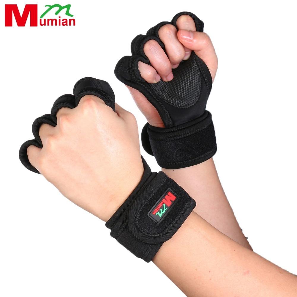 Sport Gloves For Gym: Mumian Men Training Sports Half Finger Gloves Fitness