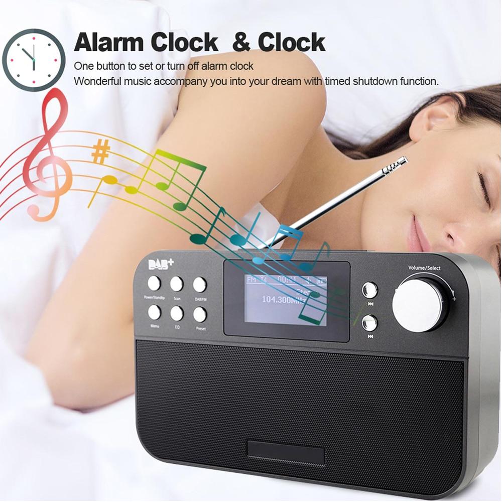 Offres spéciales Radio FM numérique professionnelle radio linternet numérique portable fm DAB + Radio Mini haut-parleur radio DR-103 pour le royaume-uni ue