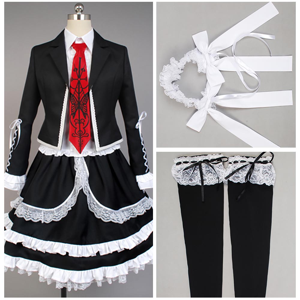 Danganronpa Dangan Ronpa Celestia Ludenberg Cosplay Costume Fancy Dress Custom Made Adult Female Male Size XS-XXXL