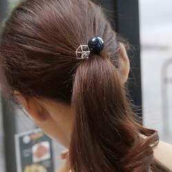 Южная Корея Новый восточные ворота супер флэш Дрель Большой жемчуг волос кольцо hairline ювелирные изделия полые из металла кожа сухожилия