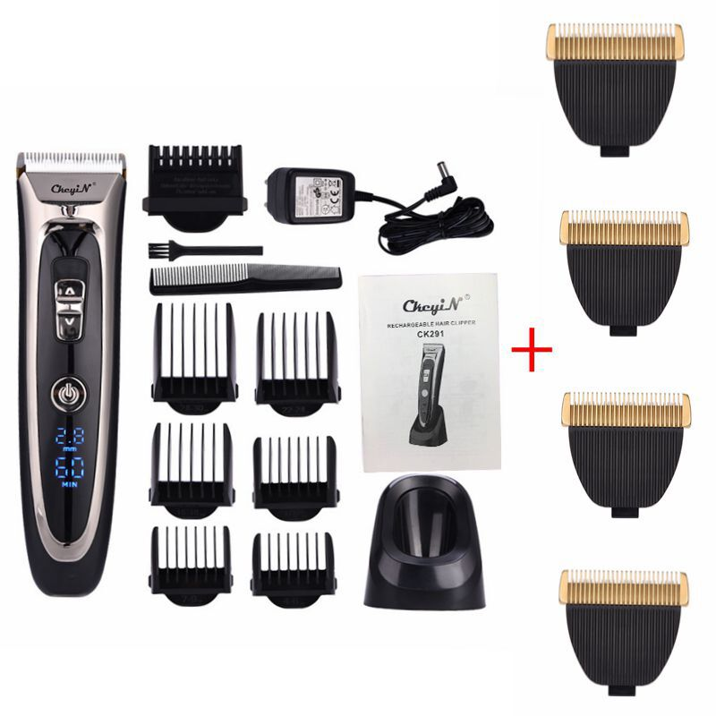 Image 1 - Powerful professional hair clipper men hair trimmer beard trimer electric cutter hair cutting machine haircut barber tool P37-in Hair Trimmers from Home Appliances