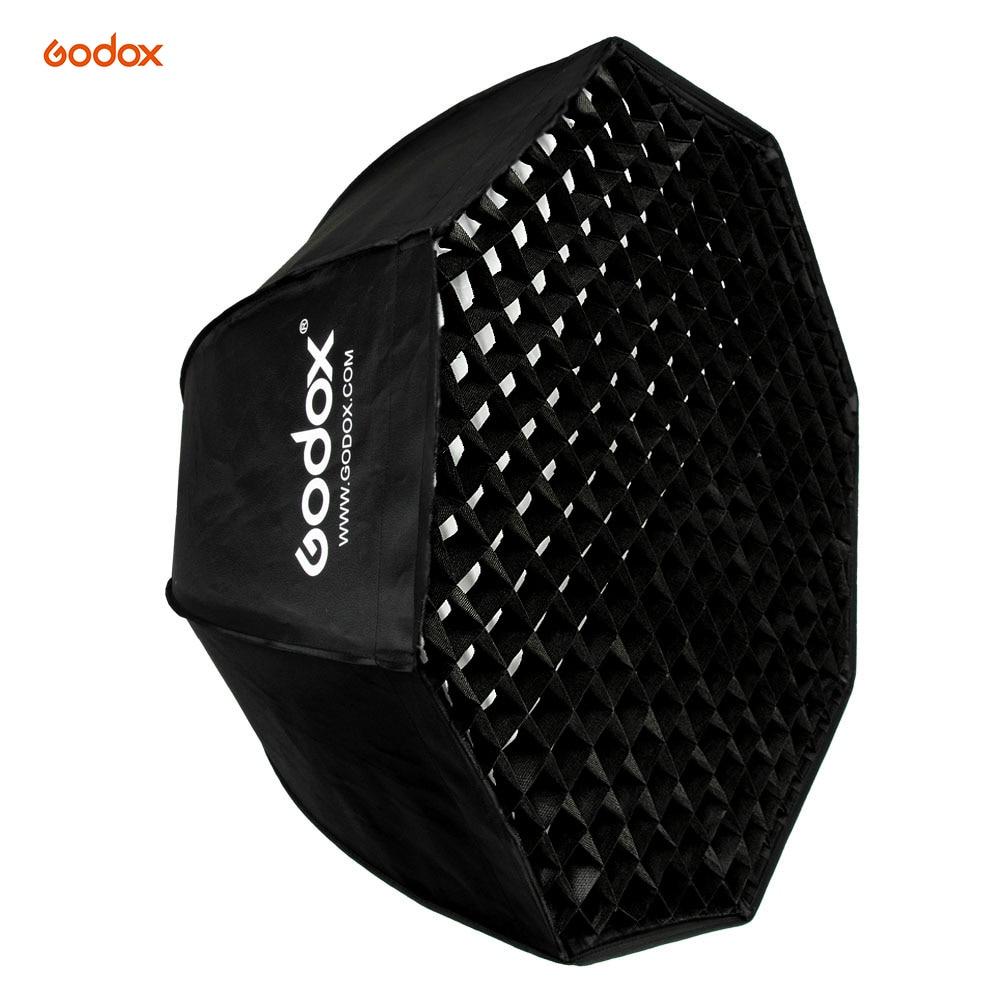 Godox SB-UE 80cm Bowens Mount Octagon Honeycomb Grid Umbrella Softbox for Godox Speedlite Flash photography studio accessories недорго, оригинальная цена