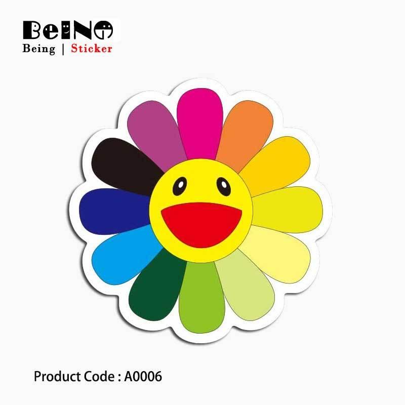 Bunga Matahari Stiker Smile Cute Terang Kartun Tahan Air Koper Kotak Laptop Gitar Bagasi Sepeda Mainan Berwarna Warni Indah A0006 Stiker Aliexpress