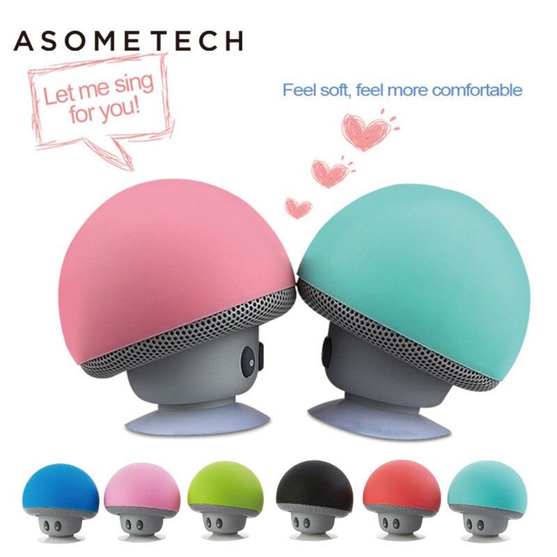 Mini Bluetooth Speaker Mushroom Wireless Speakers Adsorption Waterproof Stereo Soundbar