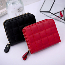 цены ZKW Hot Fashion Women's Zipper Purse Thin Zipper Ladies PU Leather Wallets Female Purse Mini Card Case Cheap Womens Wallets