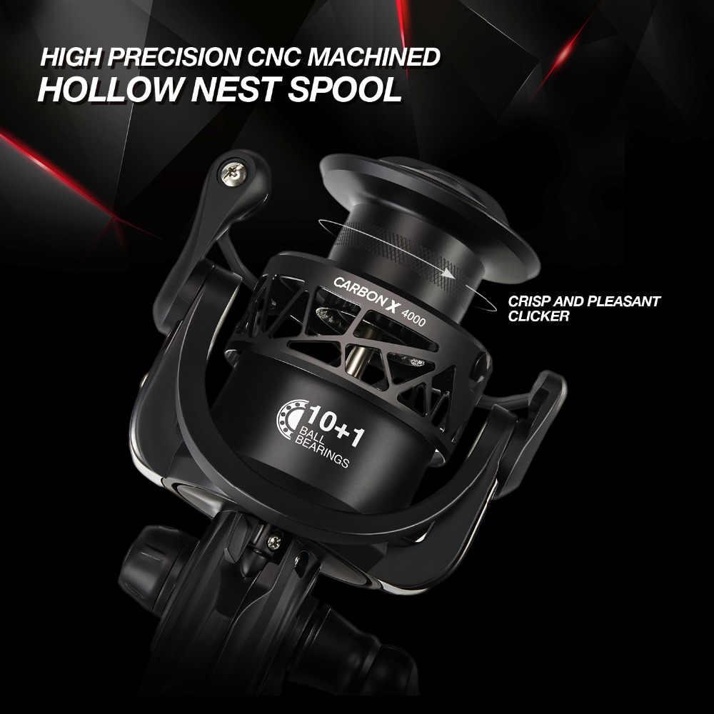 Piscifun carbone X moulinet 5.2: 1 6.2: 1 rapport de vitesse léger à 162g cadre en carbone Rotor 11 blindé BB pêche en eau salée moulinet
