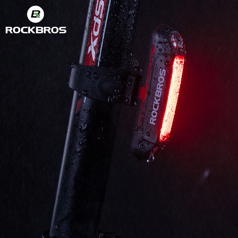 ROCKBROS Red LED Light Bike Bicycle Rear Safety Light Cycling 6 Mode Waterproof USB Rechargeable Rear Flashlight Lamp Tail Light