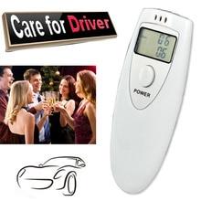 1Pcs Professional Alcohol Analyzer Police Digital Breath Alcohol Tester HX-64 LCD Display Breath Analyzer alcohol Tester