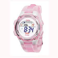 2017 Hot Sale Fashion Digital Children Boys Girls Swimming Sports Digital Waterproof Wrist Watch #June1