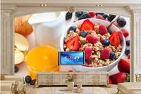 Custom Muesli Glass Container Food Wallpaper Restaurant Hotel Coffee Shop Dining Room Tv Wall Kitchen Wall