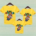 Super Mario Summer Shirt Father Mother Son Family Matching Outfits Clothing Family Look Mother & Kids Daughter Cartoon Clothes
