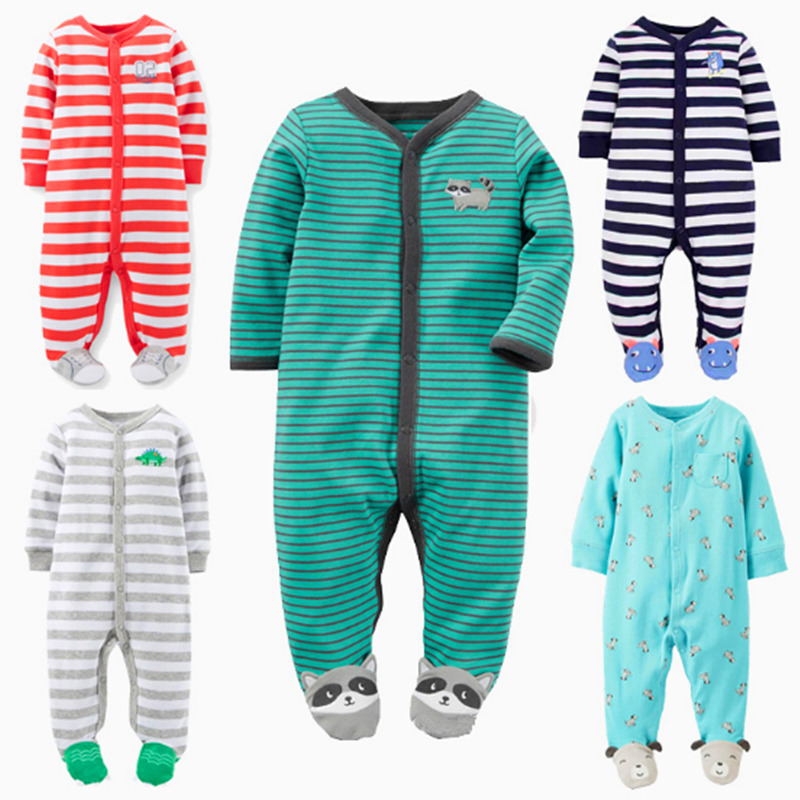 Baby Rompers 1 Piece Unisex Cartoon Full Clothing Set 100% Cotton Toddler Girls Clothes Newborn Boys Overalls Infant Jumpsuit 0 12m baby rompers winter warm fleece clothing set for boys cartoon monkey infant girls clothes newborn overalls baby jumpsuit