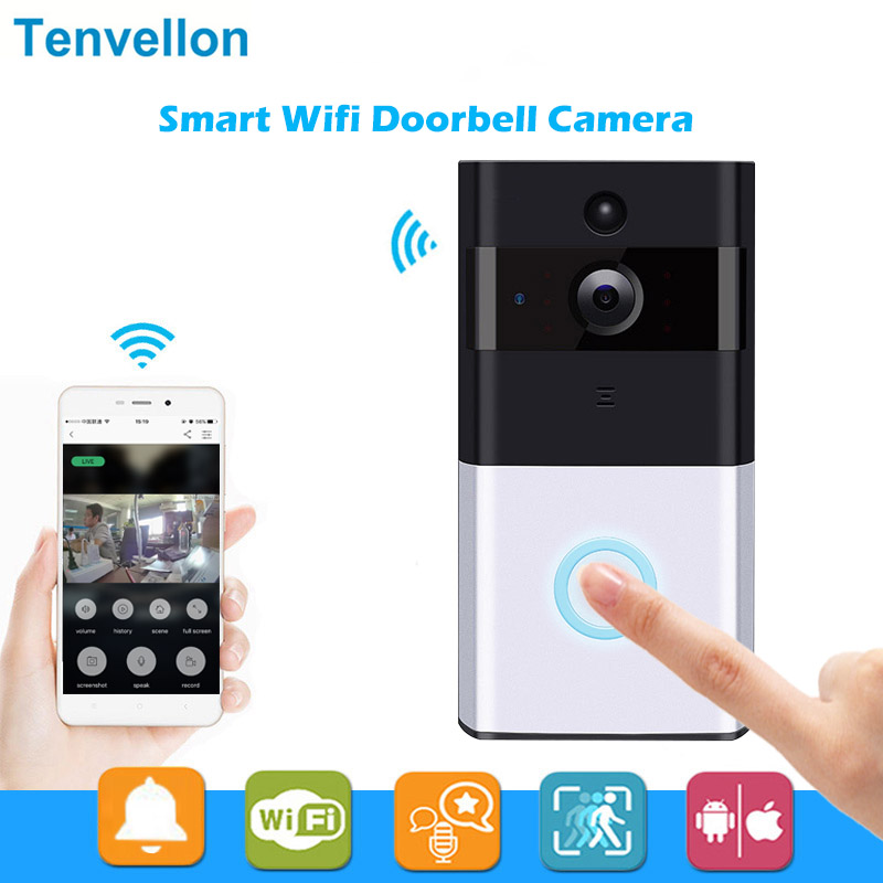 Wireless Ip Doorbell With 720p Camera Video Phone Wifi